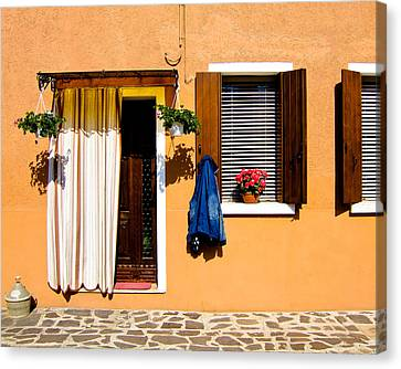Doors And Windows IIi Burano Italy Canvas Print by Carl Jackson