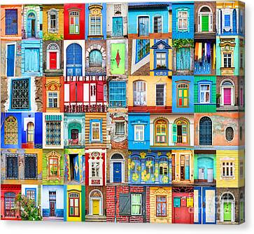 Doors And Windows Of The World Canvas Print