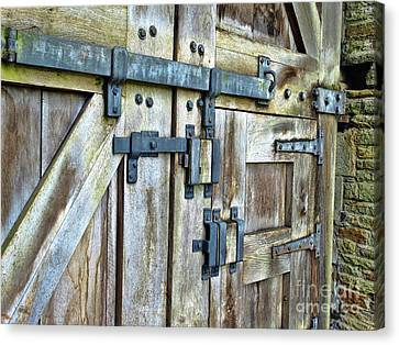 Doors At Caerphilly Castle Canvas Print