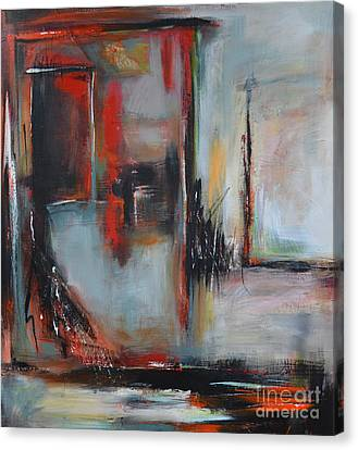 Canvas Print featuring the painting Doors by Cher Devereaux