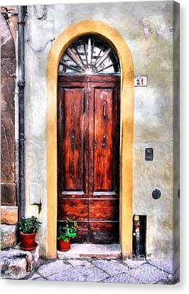 Doors Of Italy Canvas Print by Mel Steinhauer
