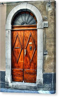 Medieval Entrance Canvas Print - Doors Of Sicily by Mel Steinhauer