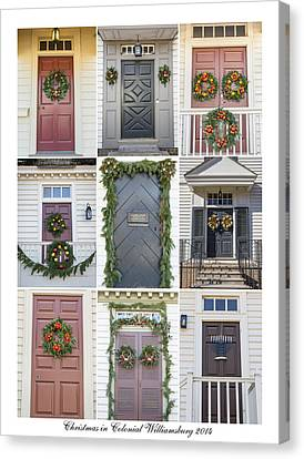 Doors Of Williamsburg Collage 4 Canvas Print by Teresa Mucha