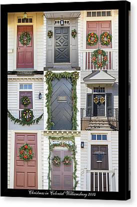 Doors Of Williamsburg Collage 6 Canvas Print by Teresa Mucha