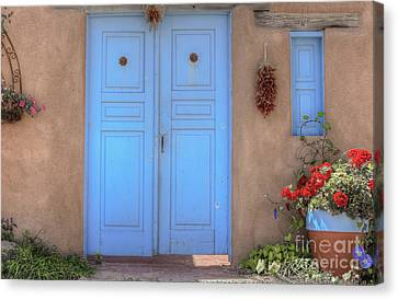 Doors, Peppers And Flowers. Canvas Print