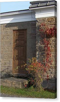 Doorway At The Stone House - Photograph Canvas Print by Jackie Mueller-Jones