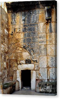 Doorway Church Of The Nativity Canvas Print by Thomas R Fletcher