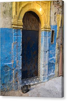 Doorway In The Mellah The Former Jewish Canvas Print