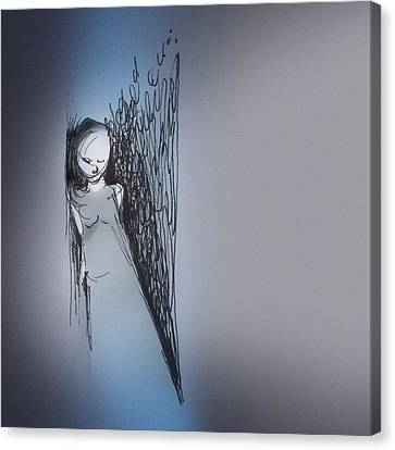 Canvas Print featuring the drawing Doorway by Keith A Link