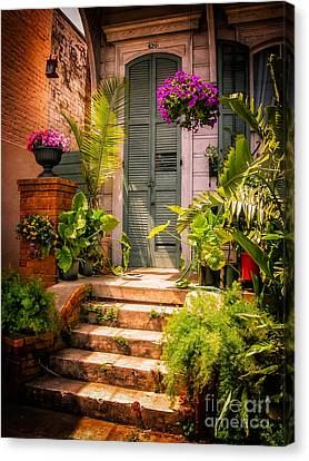 Doorway-nola-marigny-vintage Canvas Print