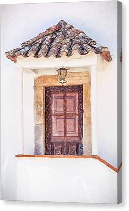 Doorway Of Portugal Canvas Print by David Letts