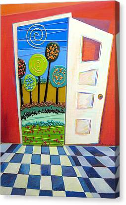 Doorway To Somewhere Canvas Print by Anne Nye