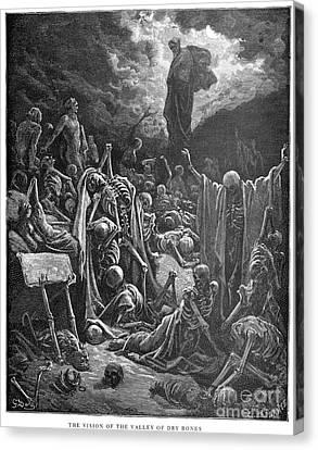 Dor�: Valley Of Dry Bones Canvas Print by Granger