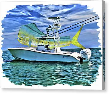 Dorado Yellowfin Canvas Print