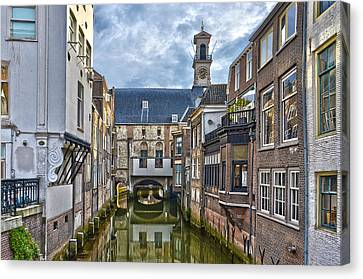 Canvas Print featuring the photograph Dordrecht Town Hall by Frans Blok