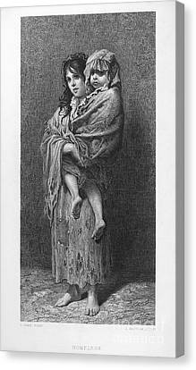 Dore: Homeless, C1869 Canvas Print by Granger