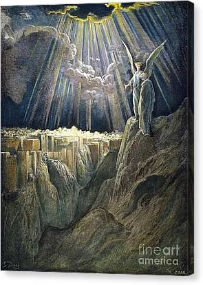 New Jerusalem Canvas Print - Dore: New Jerusalem by Granger