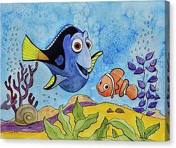 Dori And Nemo Canvas Print