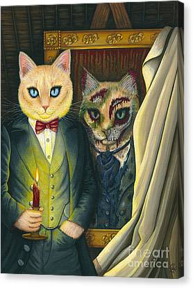 Canvas Print featuring the painting Dorian Gray by Carrie Hawks