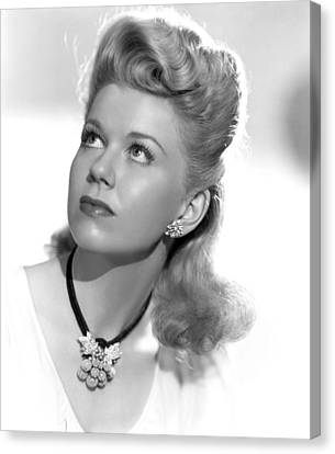 1940s Hairstyles Canvas Print - Doris Day, Ca. Mid-1940s by Everett