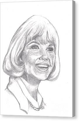 Doris Day  Canvas Print by Carol Wisniewski