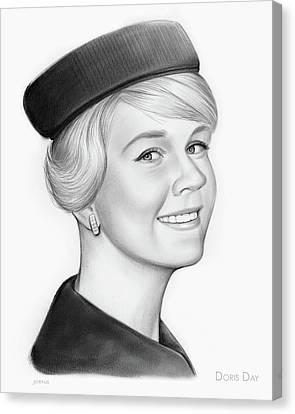Doris Canvas Print - Doris Day by Greg Joens