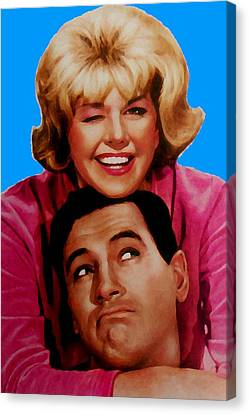 Doris Day Rock Hudson  Canvas Print by Paul Van Scott