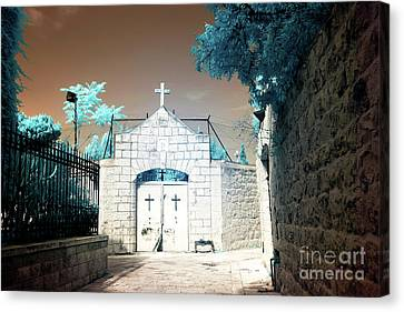 Dormition Abbey Cemetery Canvas Print by John Rizzuto