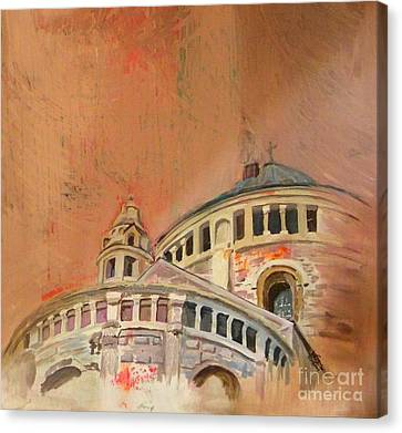 Kirche Canvas Print - Dormition Abbey   by Jolanta Shiloni