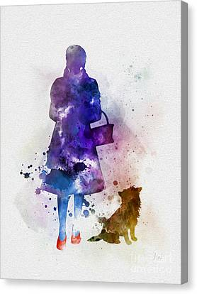Dorothy And Toto Canvas Print by Rebecca Jenkins