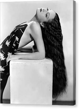 Dorothy Lamour, Paramount Pictures, 1936 Canvas Print by Everett