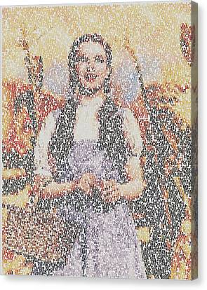 Canvas Print featuring the mixed media Dorothy Made Of Wizard Of Oz Quotes by Paul Van Scott