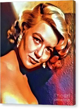 Dorothy Malone, Vintage Actress. Digital Art By Mb Canvas Print
