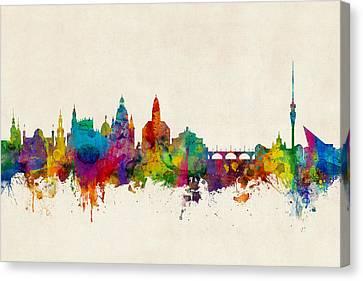 North Germany Canvas Print - Dortmund Germany Skyline by Michael Tompsett