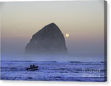 Dory Under A Blue Moon Canvas Print by Tim Moore