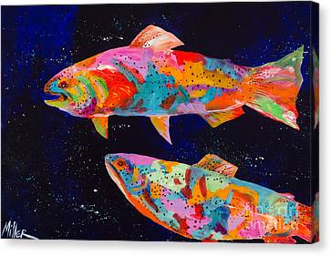 Dos Brown Trout Canvas Print by Tracy Miller