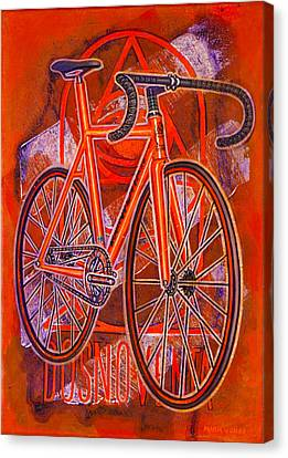 Dosnoventa Houston Flo Orange Canvas Print by Mark Jones