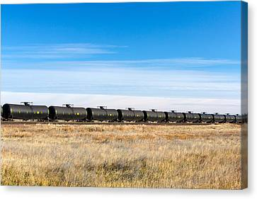 Dot-111 Tank Cars Canvas Print