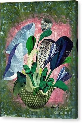 Dot Bouquet Canvas Print by Sarah Loft