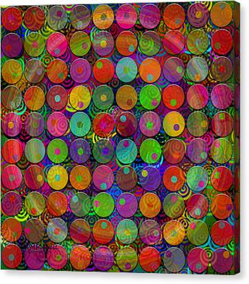 Dot Madness Canvas Print