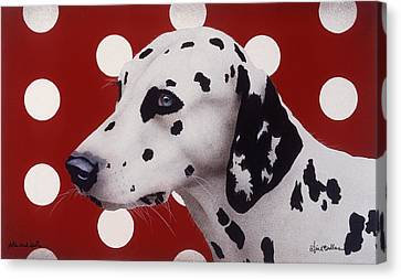 Canvas Print featuring the painting Dots And Spots... by Will Bullas