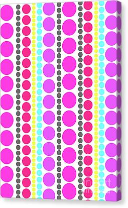 Dots Canvas Print by Louisa Knight
