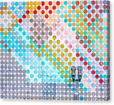 Dots, Many Colored Dots Canvas Print