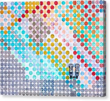 Dots, Many Colored Dots Canvas Print by Todd Klassy