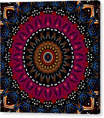 Dotted Wishes No. 5 Kaleidoscope Canvas Print by Joy McKenzie