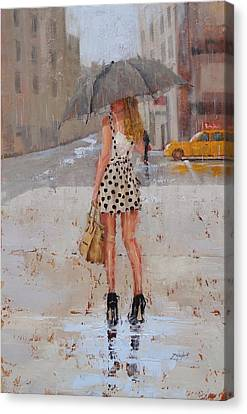 Street Canvas Print - Dottie by Laura Lee Zanghetti