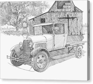 Old Shed Canvas Print - Double A Farm by David King