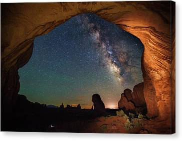 Double Arch Milky Way Views Canvas Print by Darren White