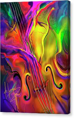 Double Bass Solo Canvas Print by DC Langer