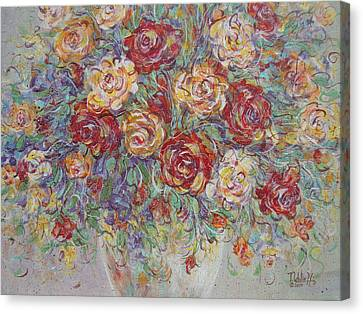 Canvas Print featuring the painting Double Delight. by Natalie Holland
